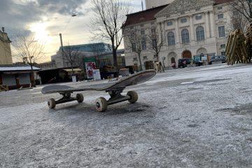 Skaten am Kaiser-Josef-Platz in Graz